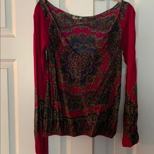 Lucky Brand Slouchy Multi Colored Top